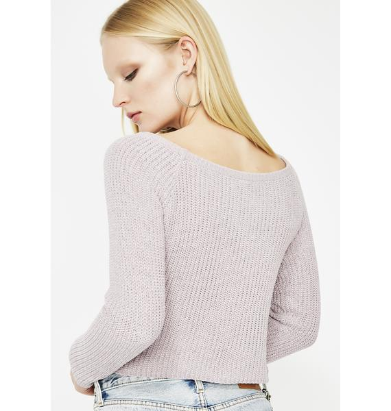 Chill Out Crop Sweater