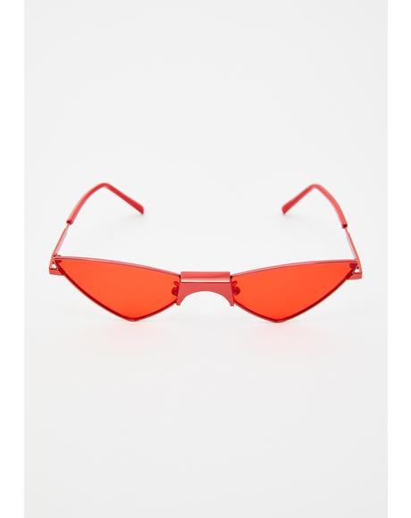Devil Pointin' Fingers Triangle Sunglasses
