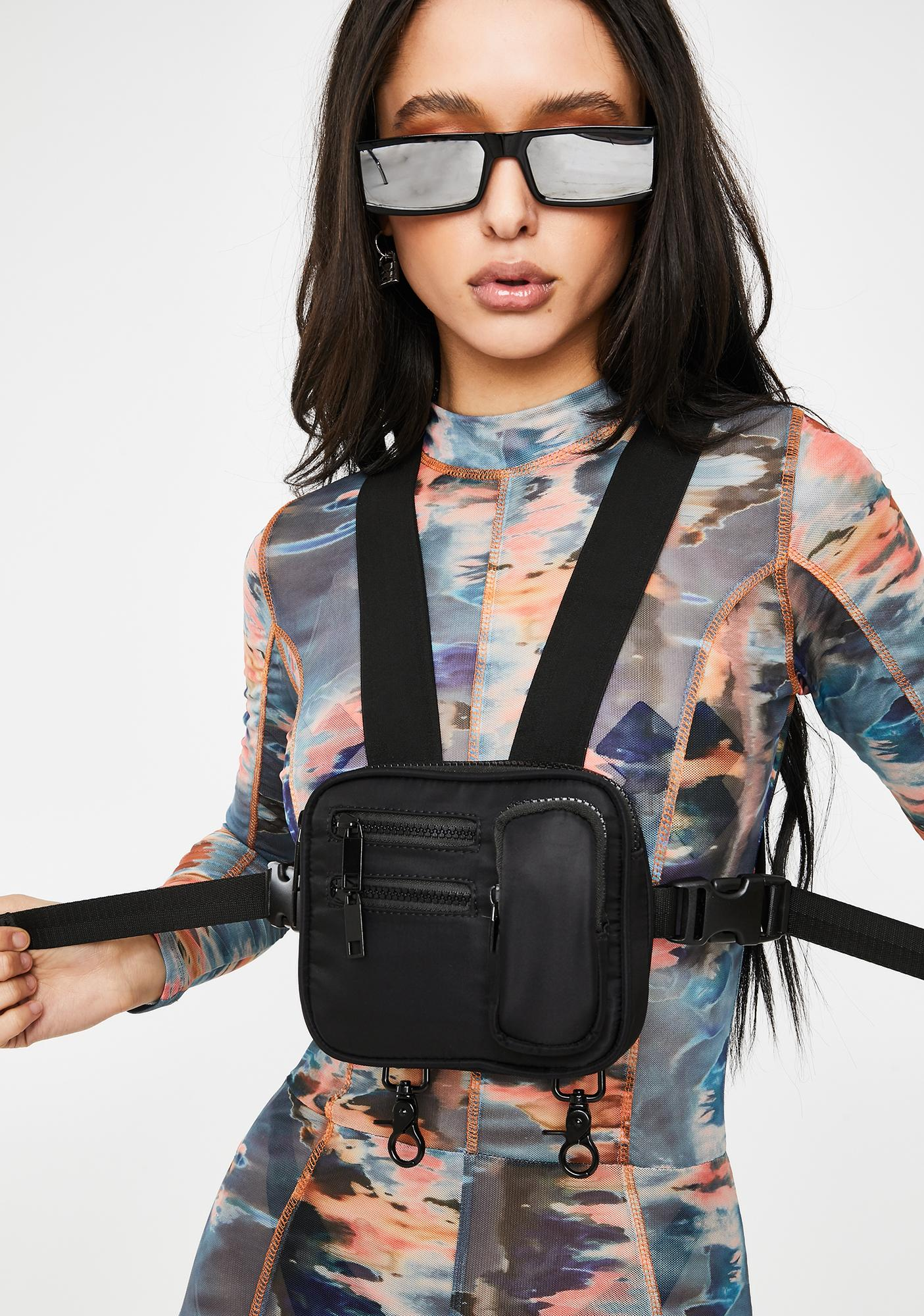 Poster Grl Power Pose Harness Fanny Pack