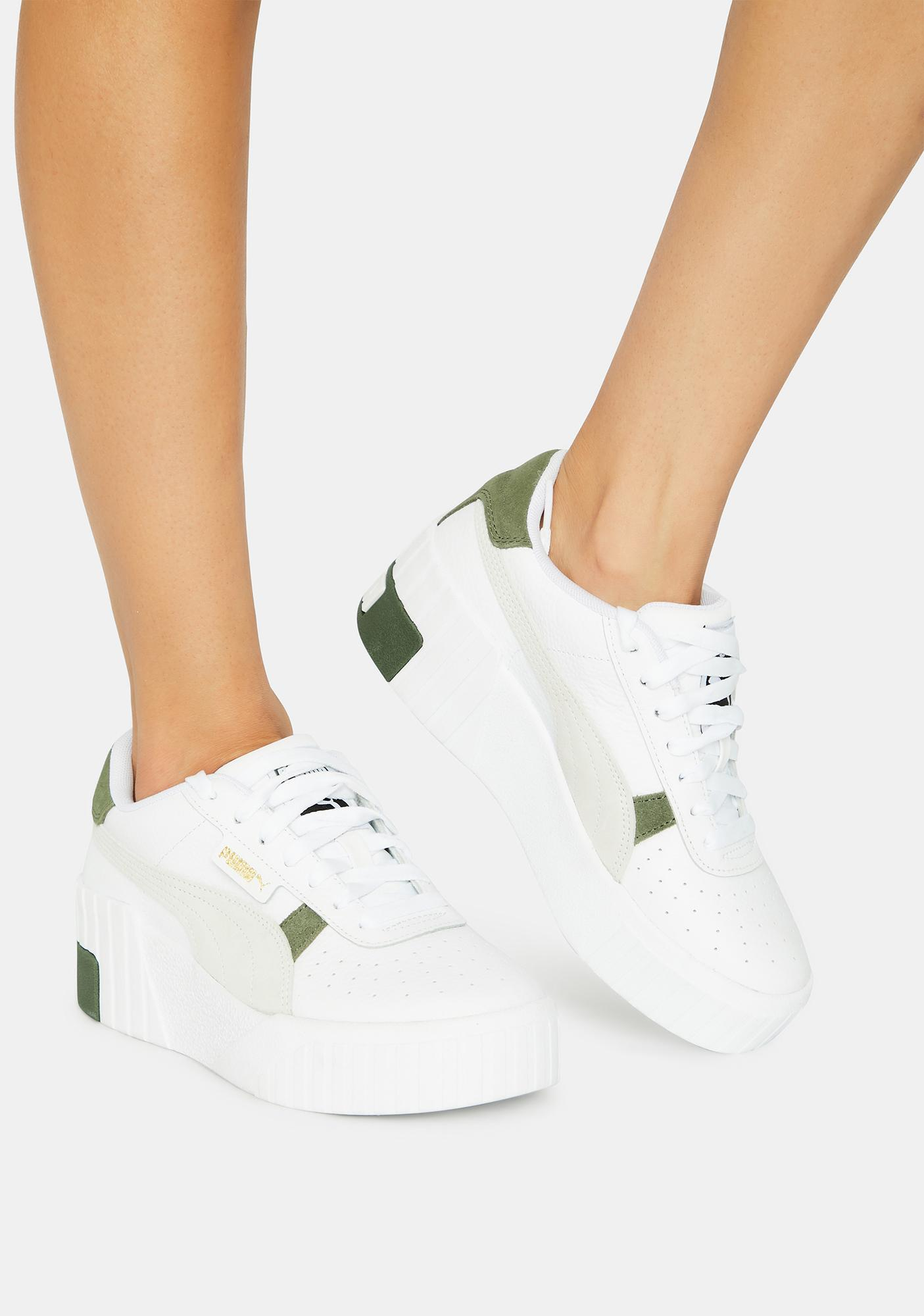 PUMA Cali Wedge Mix Sneakers