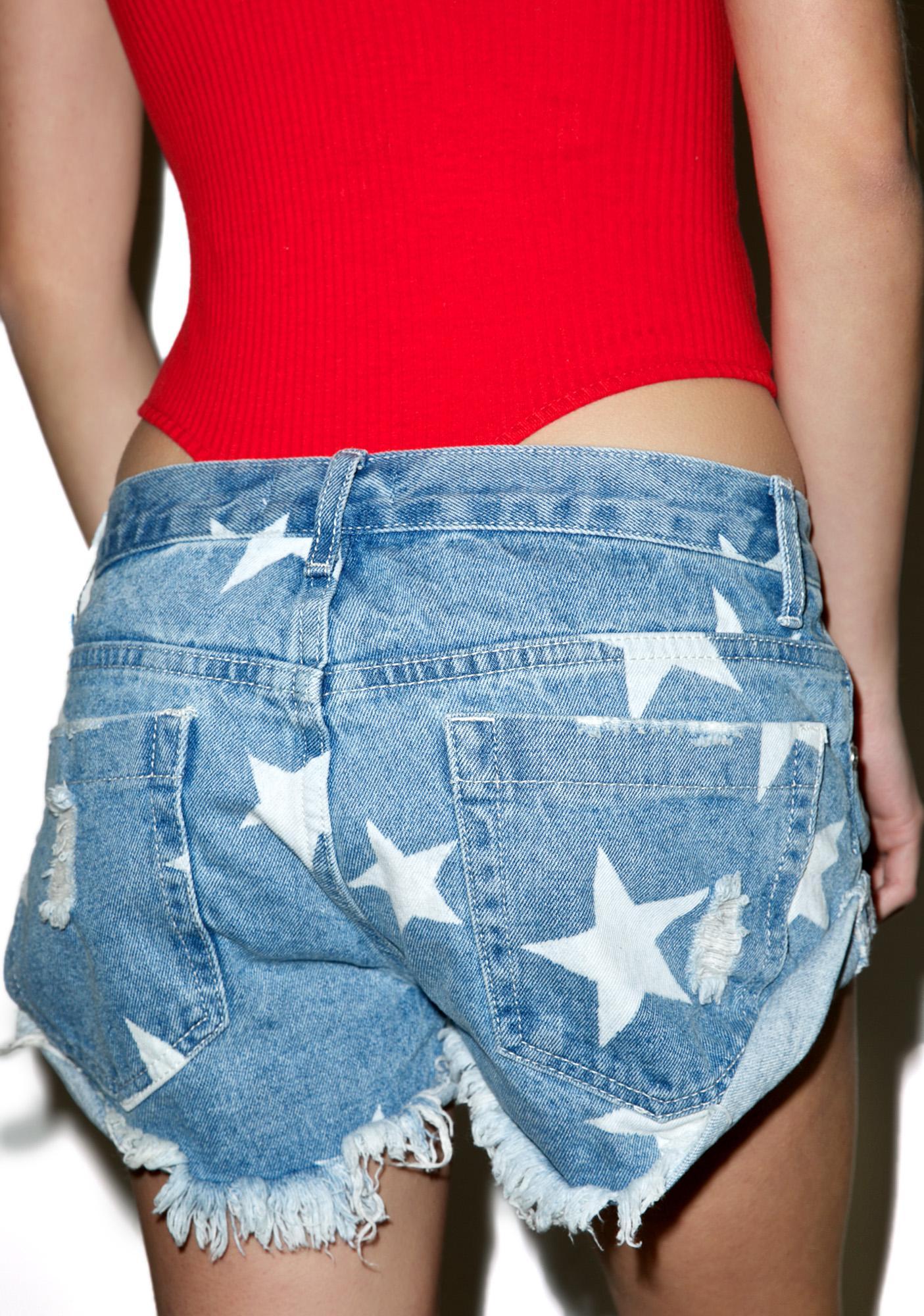 Glamorous Springsteen Denim Shorts