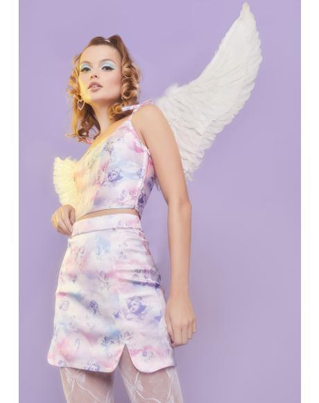 On Cloud Nine Mini Skirt