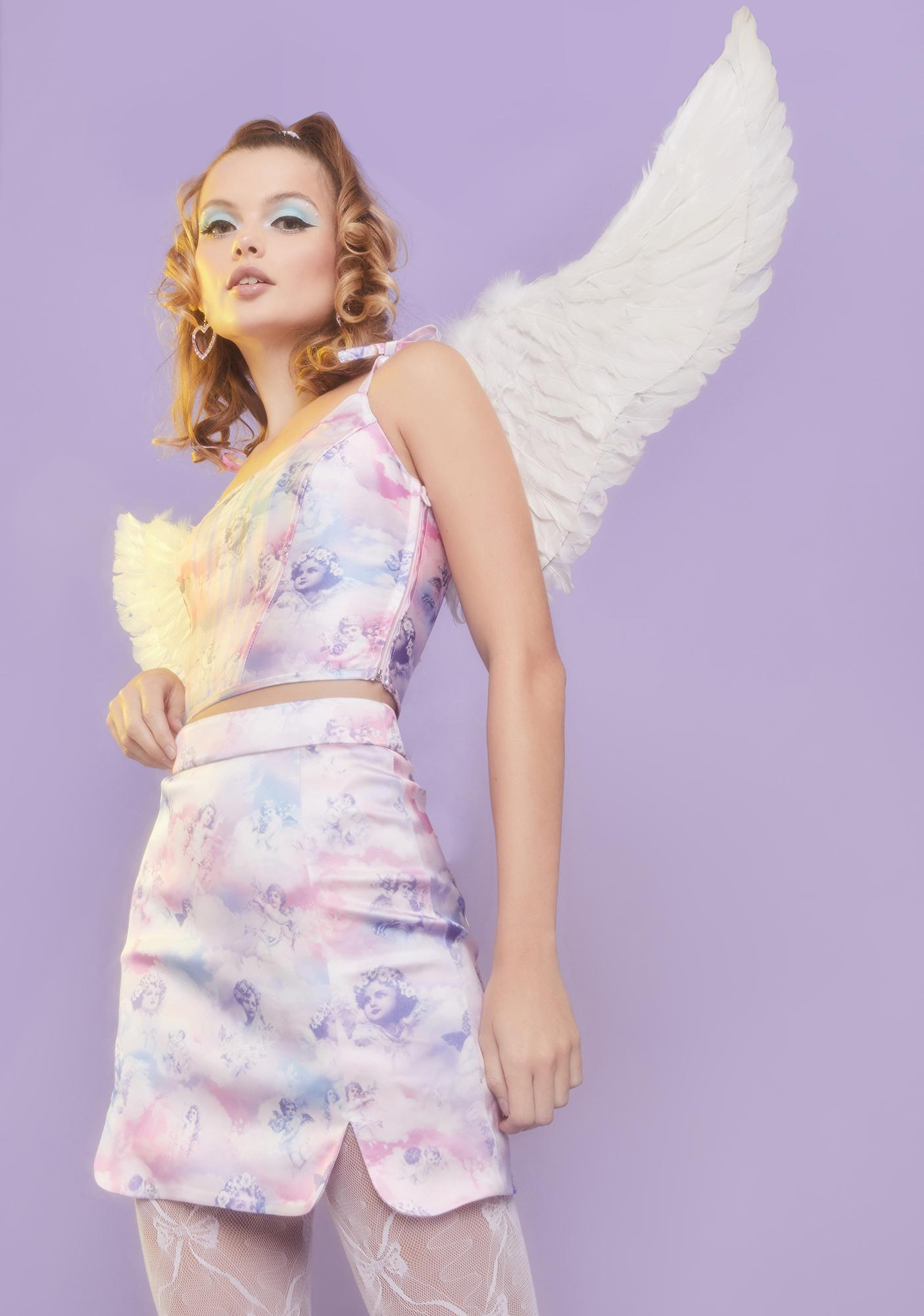 Sugar Thrillz On Cloud Nine Mini Skirt