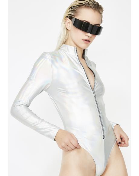 Electric Beat Holographic Bodysuit