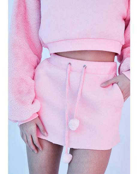 Abominable Creature Mini Skirt