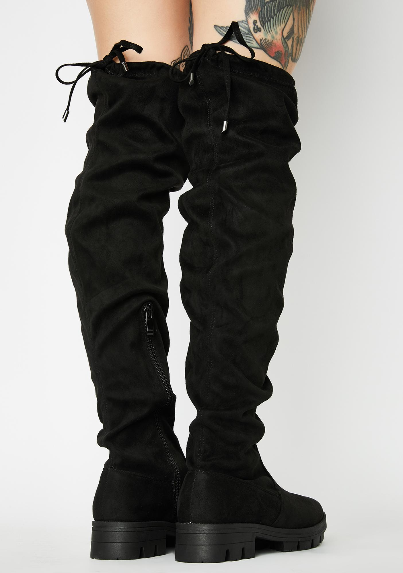 Fame Games Knee High Boots