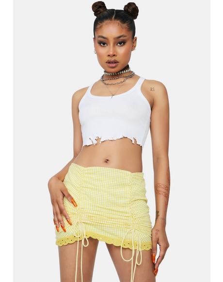 Lemon Dream Team Gingham Mini Skirt