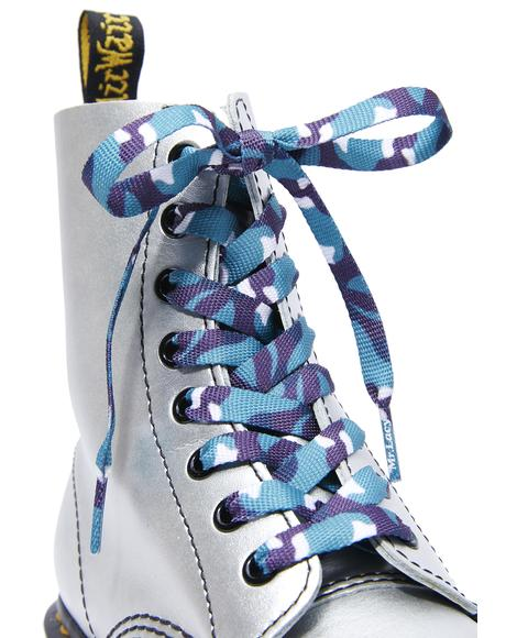 True Blindsided Camo Shoelaces