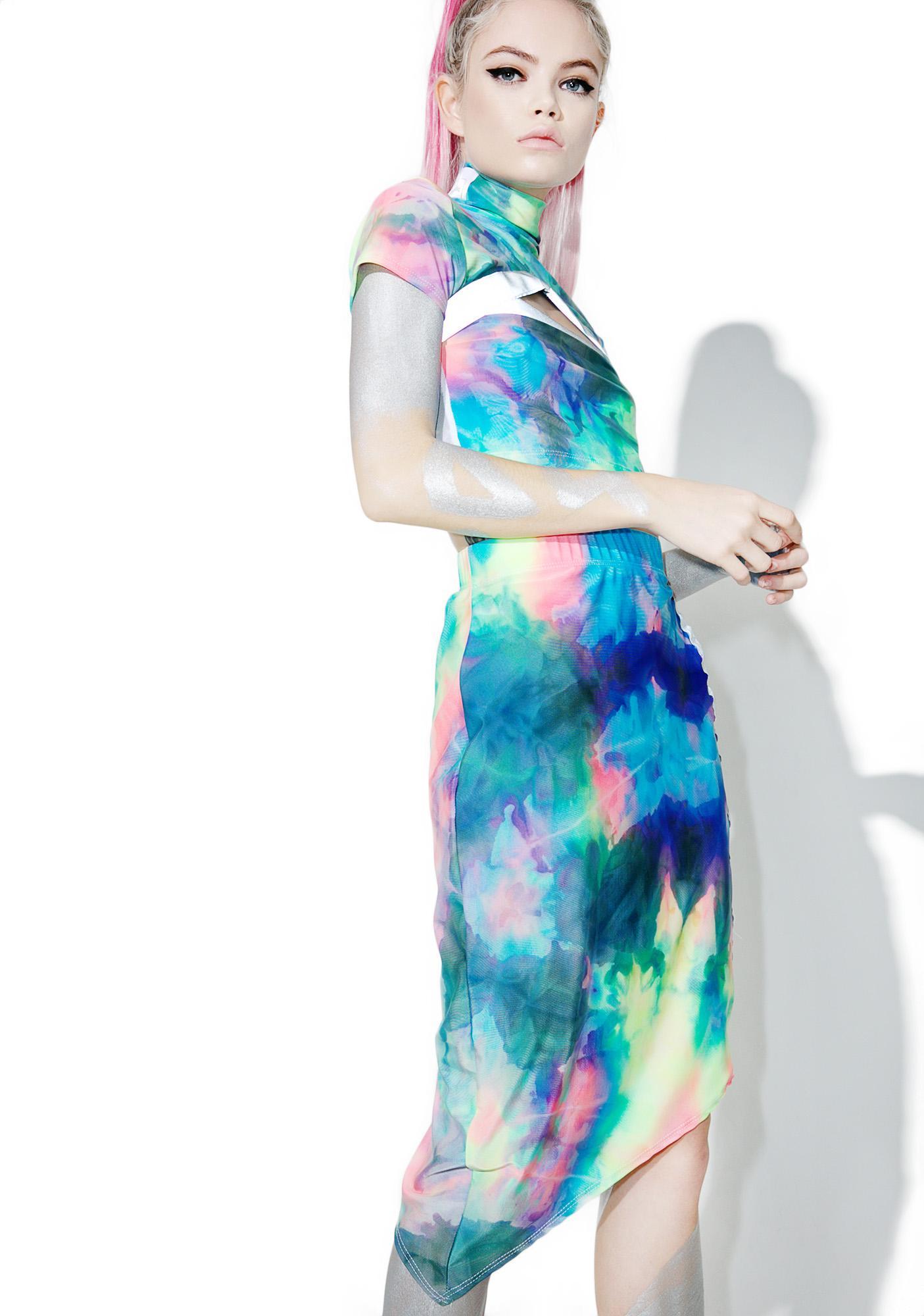 ESQAPE Asymmetric Tie Dye Mesh Set