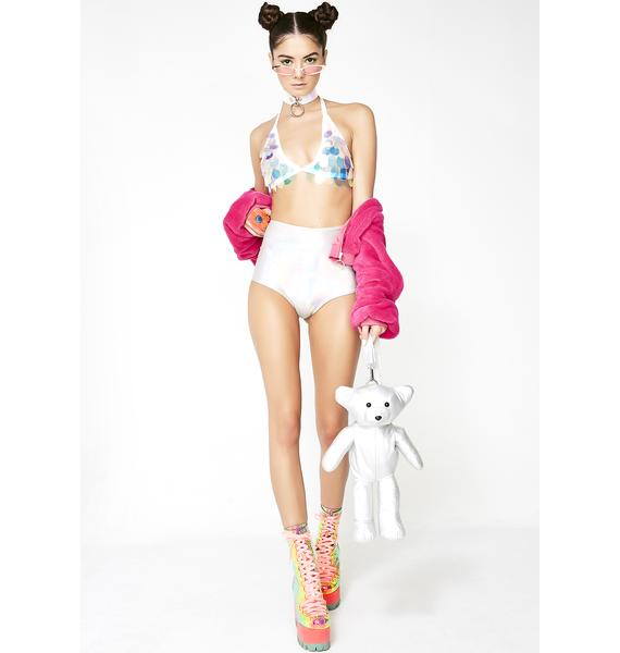 The Lyte Couture Unicorn Sequin Triangle Halter Top