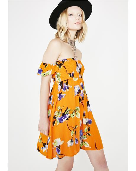 Wild Bloom Floral Dress