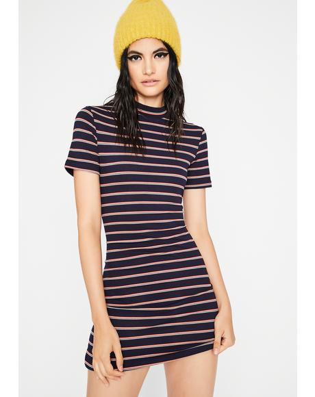 Ignoring The DM's Striped Dress