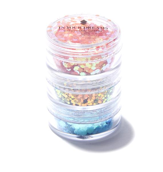 In Your Dreams Tropical Sunset Glitter Stack