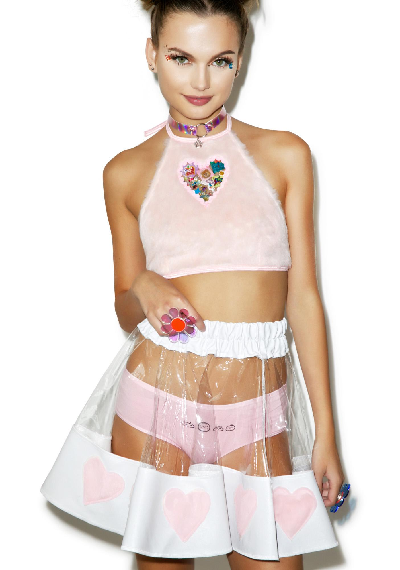 Indyanna Courtney PVC Heart Skirt