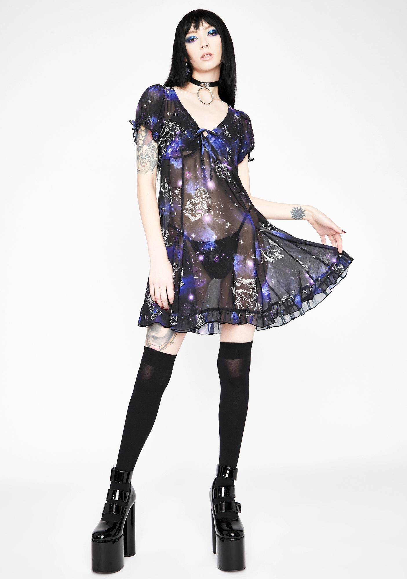 HOROSCOPEZ Rewrite The Stars Babydoll Dress