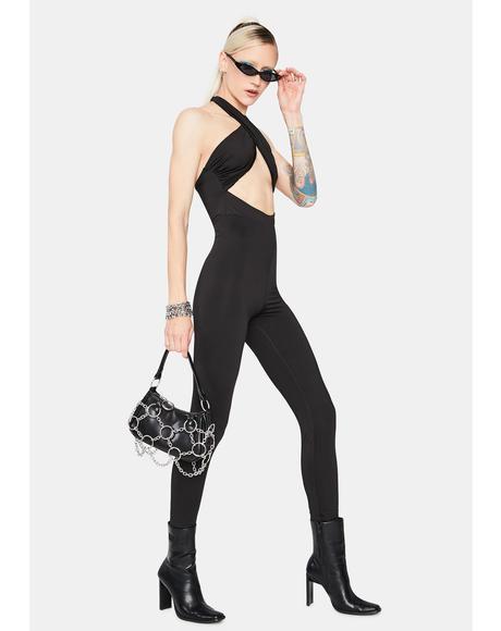 Euphoric Dreamer Halter Cutout Skinny Jumpsuit