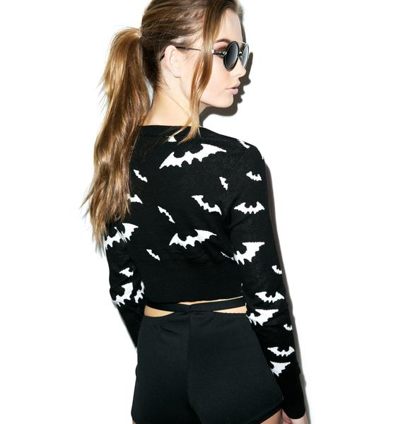 You Drive Me Batty Cropped Sweater