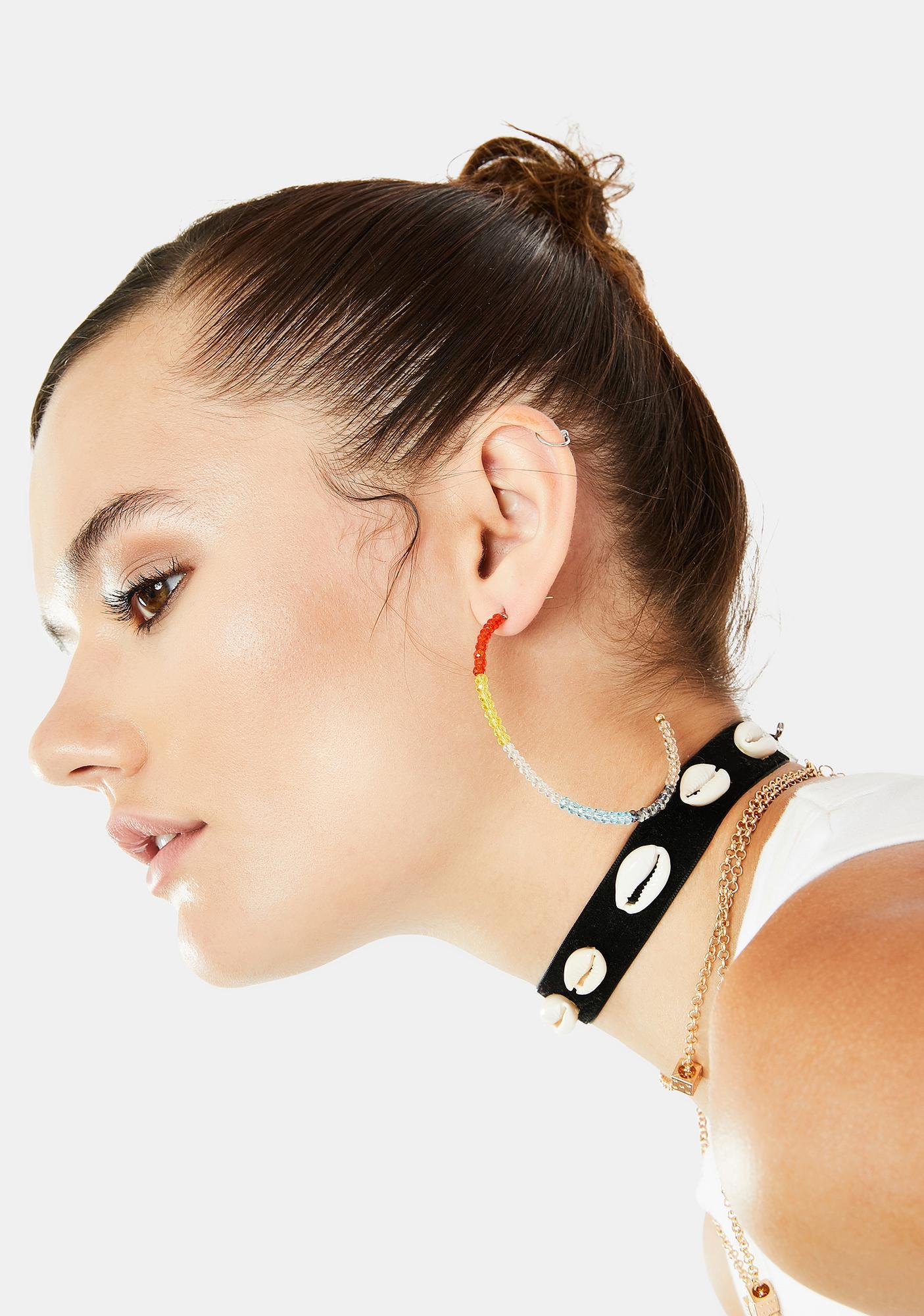 Clear Skies Hoop Earrings