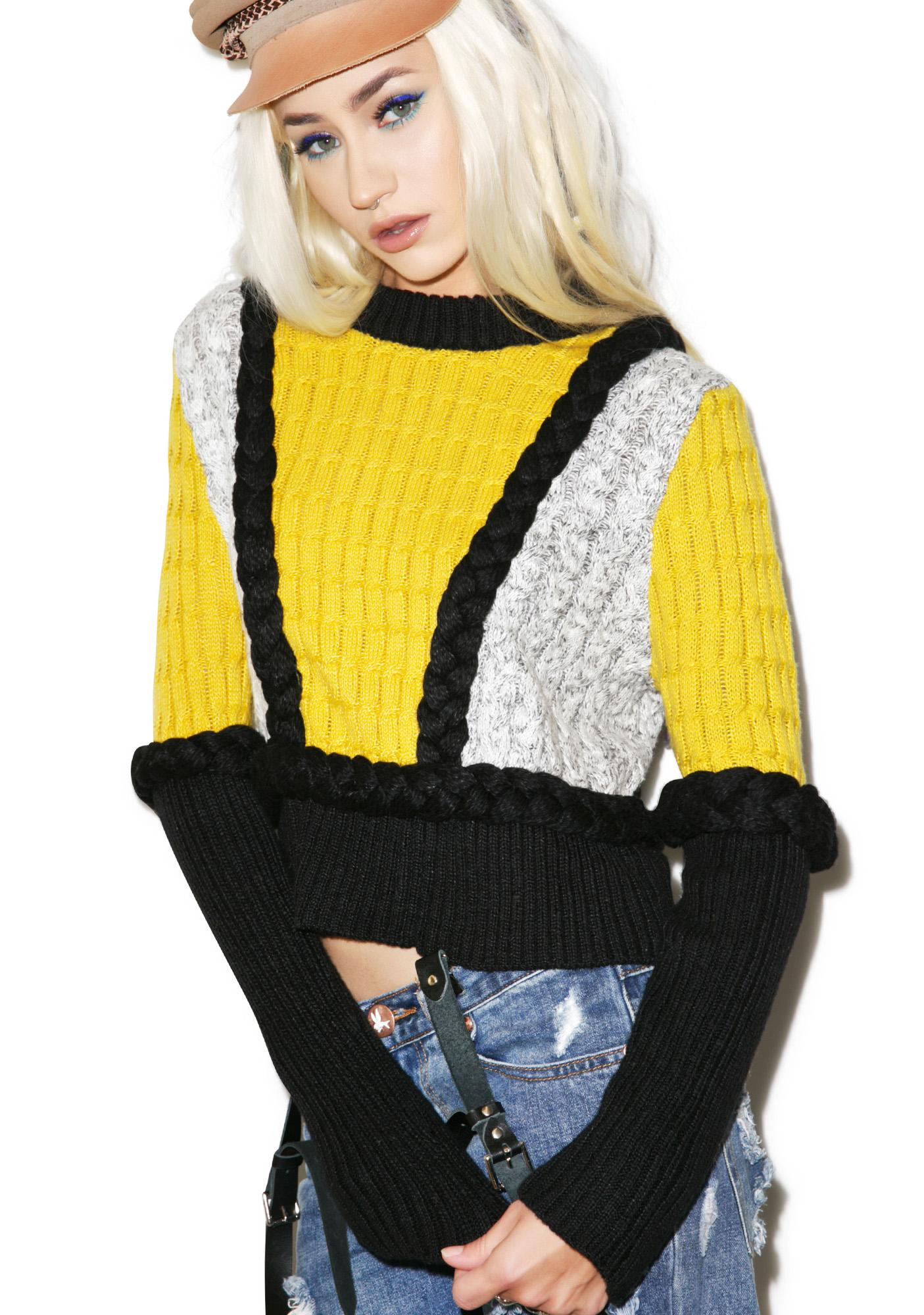For Love & Lemons Billy Crop Sweater