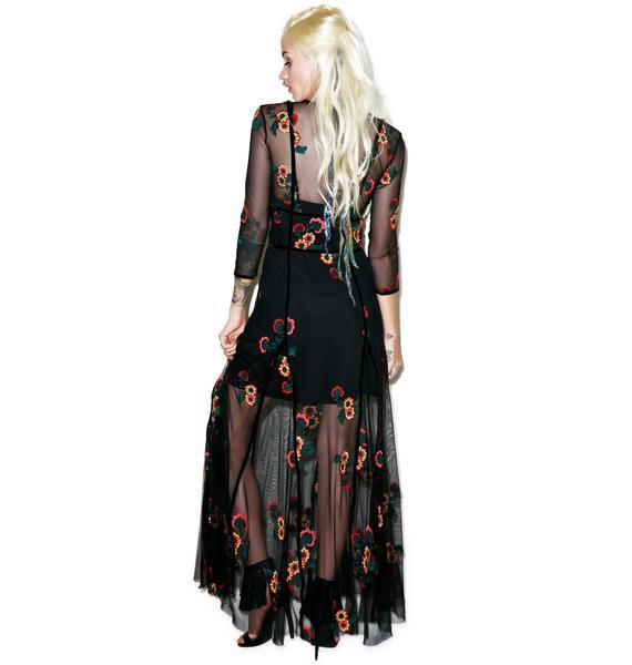 For Love & Lemons Elenora Maxi Dress