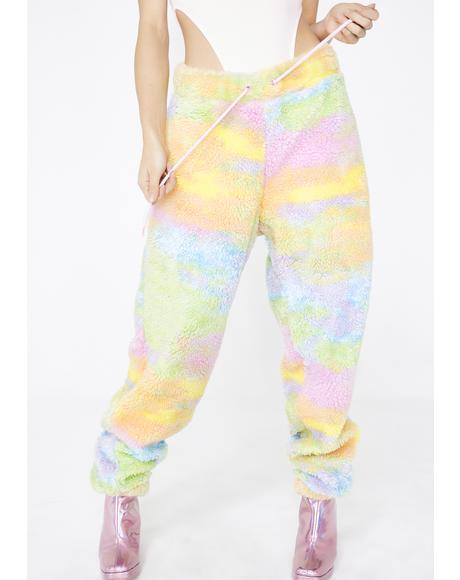Rainbow Fleece Joggers