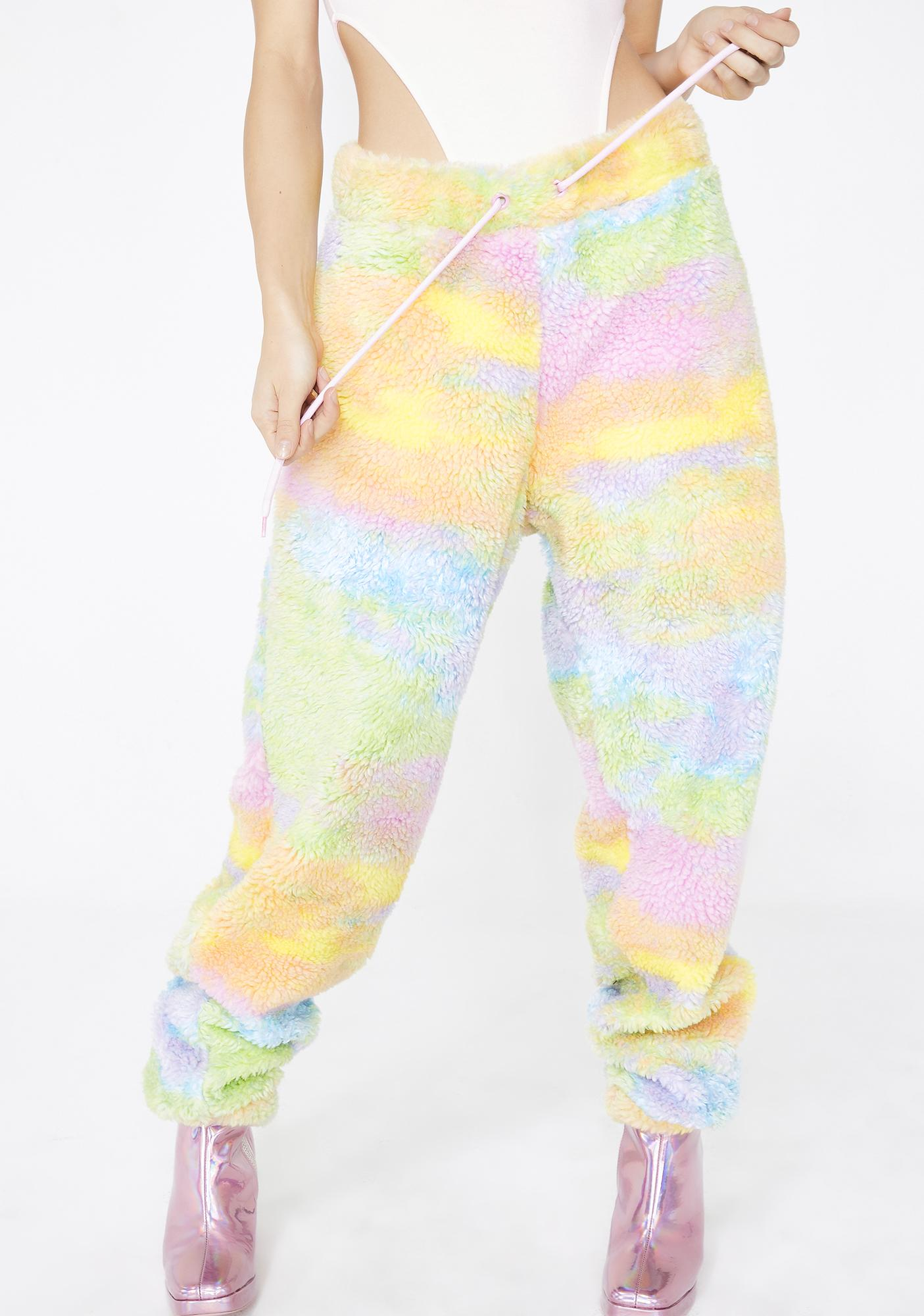 2fd153bb90cfb1 Jaded London Rainbow Fleece Joggers   Dolls Kill