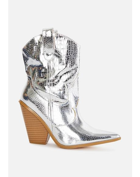 Chrome Walk My Way Cowboy Boots