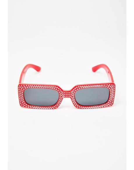 Hell Badabing Badaboom Rhinestone Sunglasses