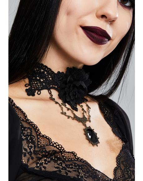 Gothic Rose Choker
