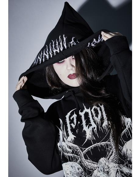 Infinite Total Annihilation Cropped Hoodie