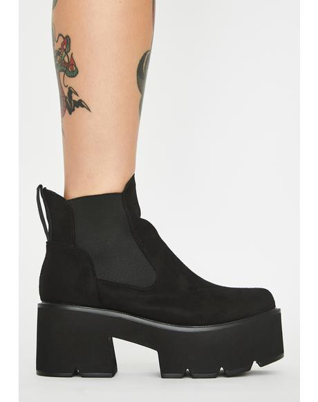 Suede Rougher The Better Platform Boots