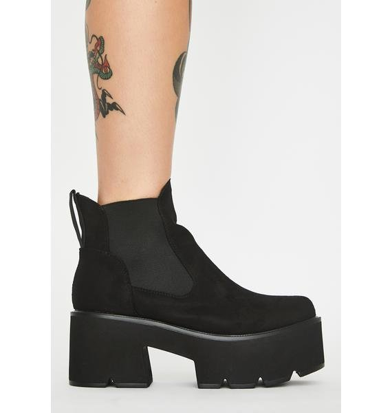 Lamoda Suede Rougher The Better Platform Boots