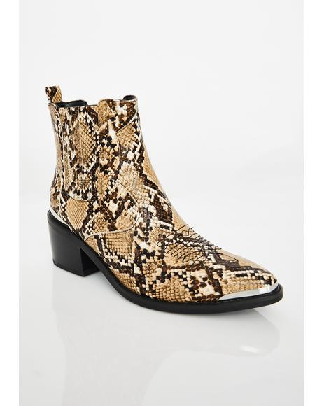 Relentless Rebel Snakeskin Boots