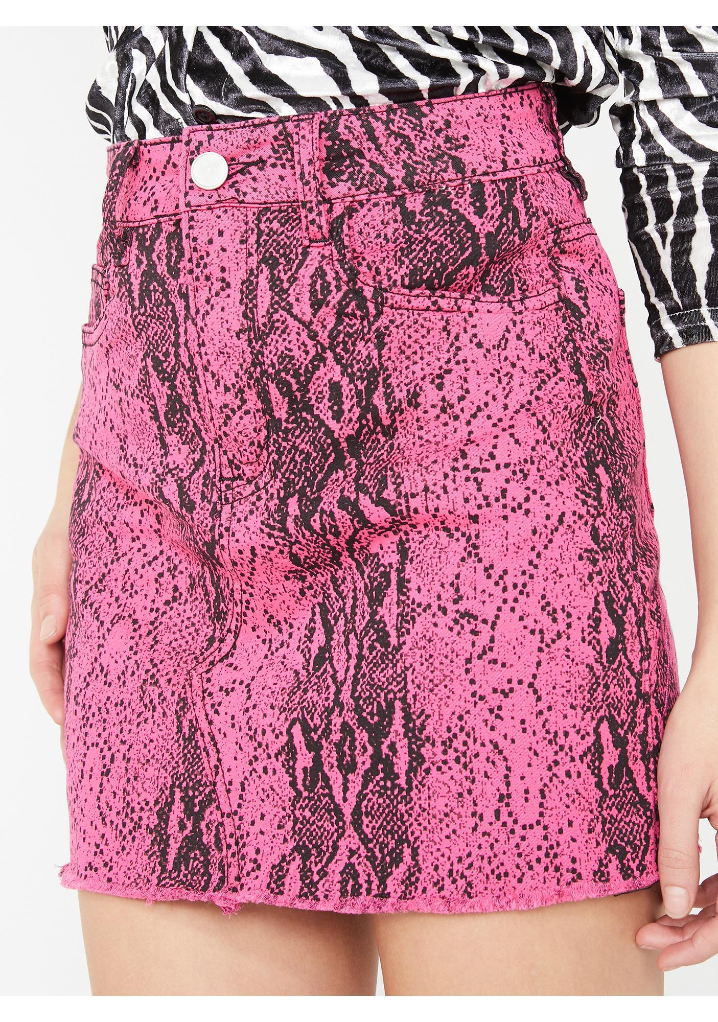 c8a1baeb1b Snakeskin Print Neon Mini Skirt | Dolls Kill