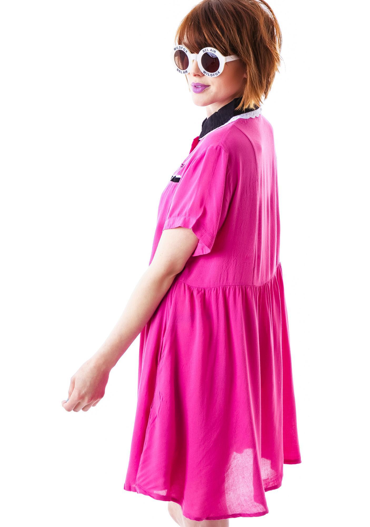 Lazy Oaf Pink Lady Dress
