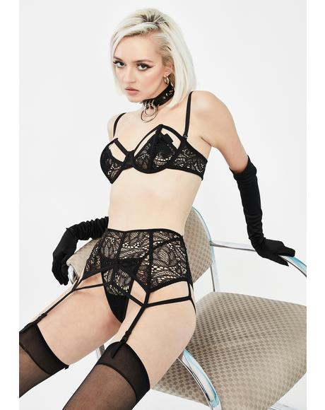 Say No More Garter Set