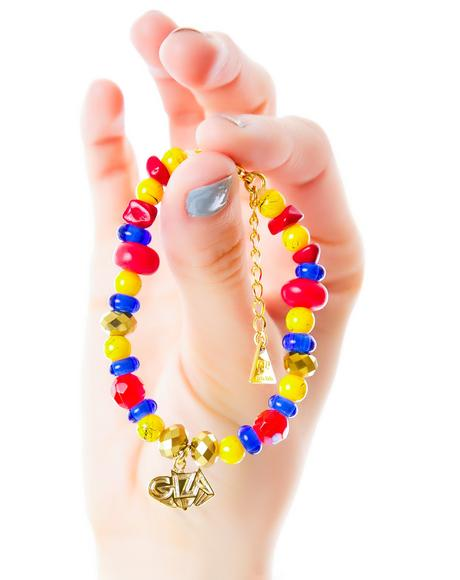 x Giza 3D Logo Micro Beaded Bracelet