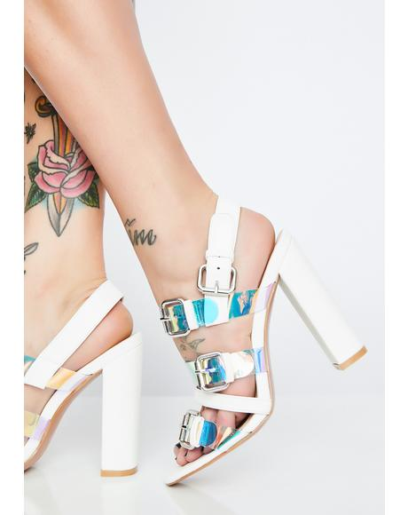 Icy Mystic Shine Holographic Heels