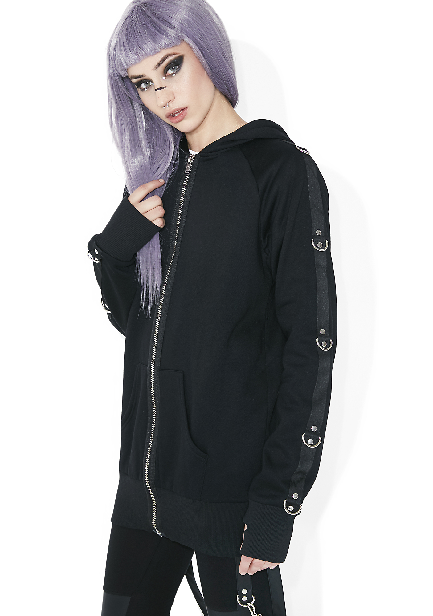 Current Mood Hell�s Not Hot D-Ring Hoodie