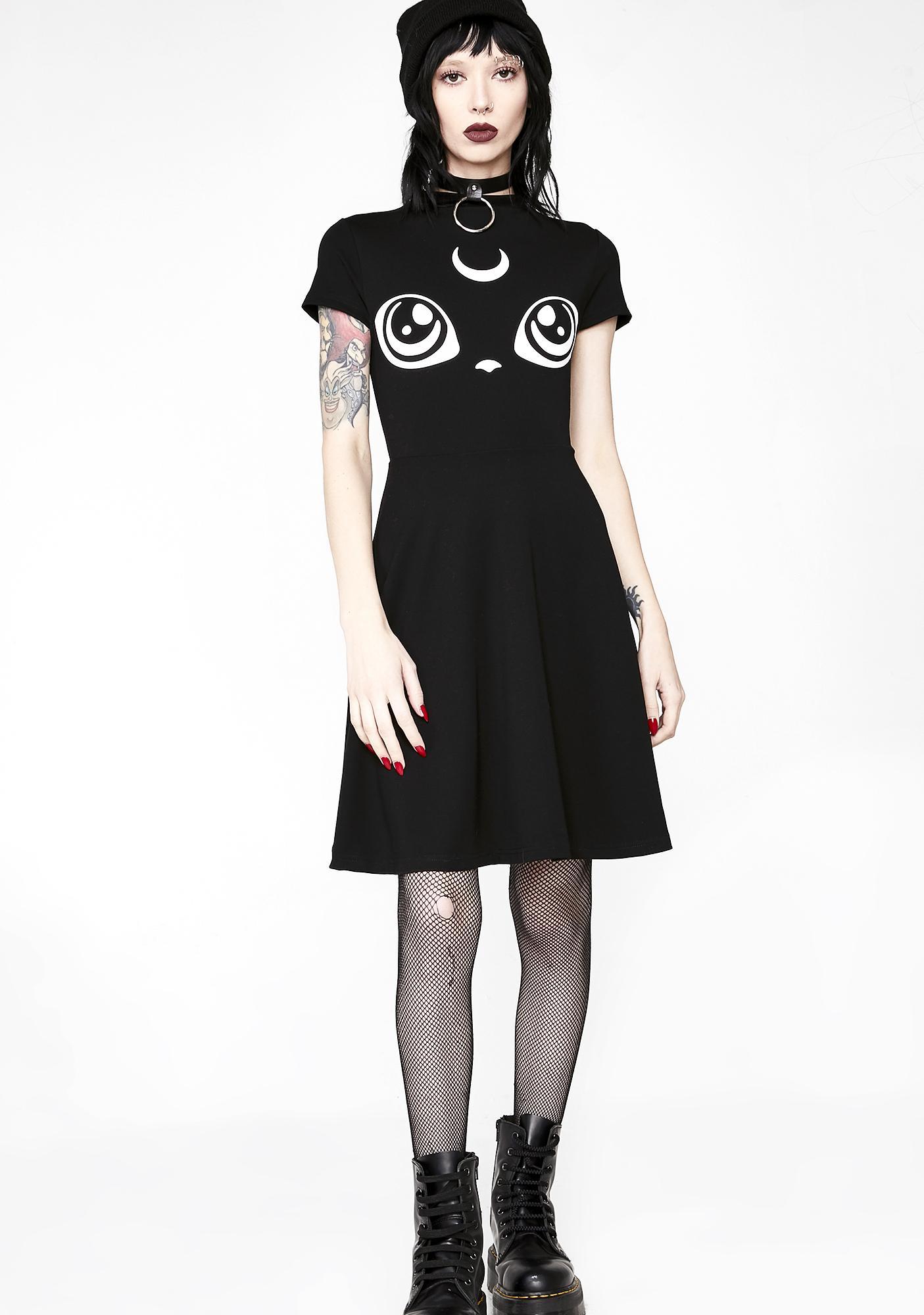 Killstar Meowgical Skater Dress