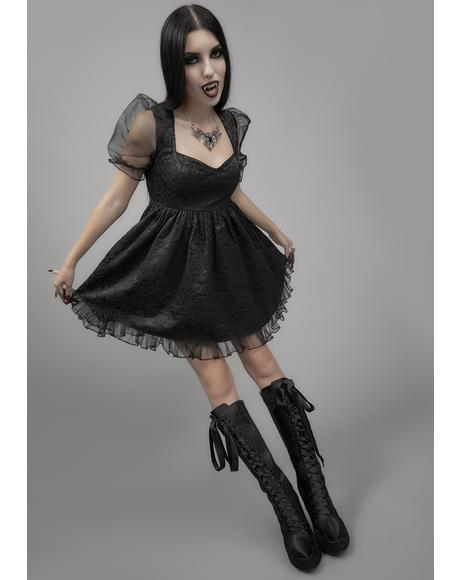 Dark Bidding Babydoll Dress