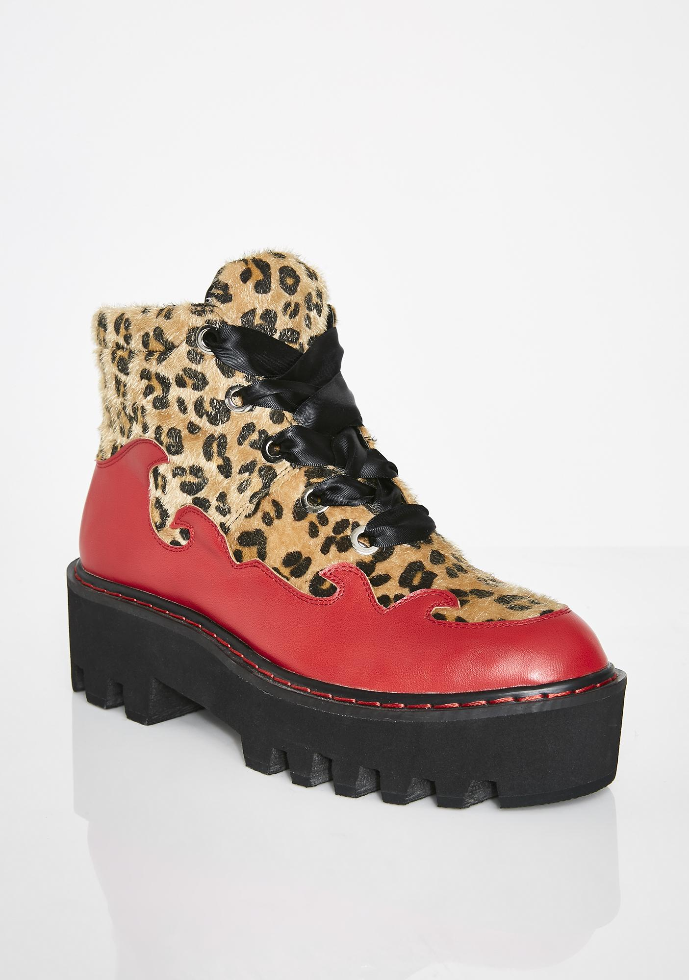 Lamoda Too Much Swag Leopard Boots