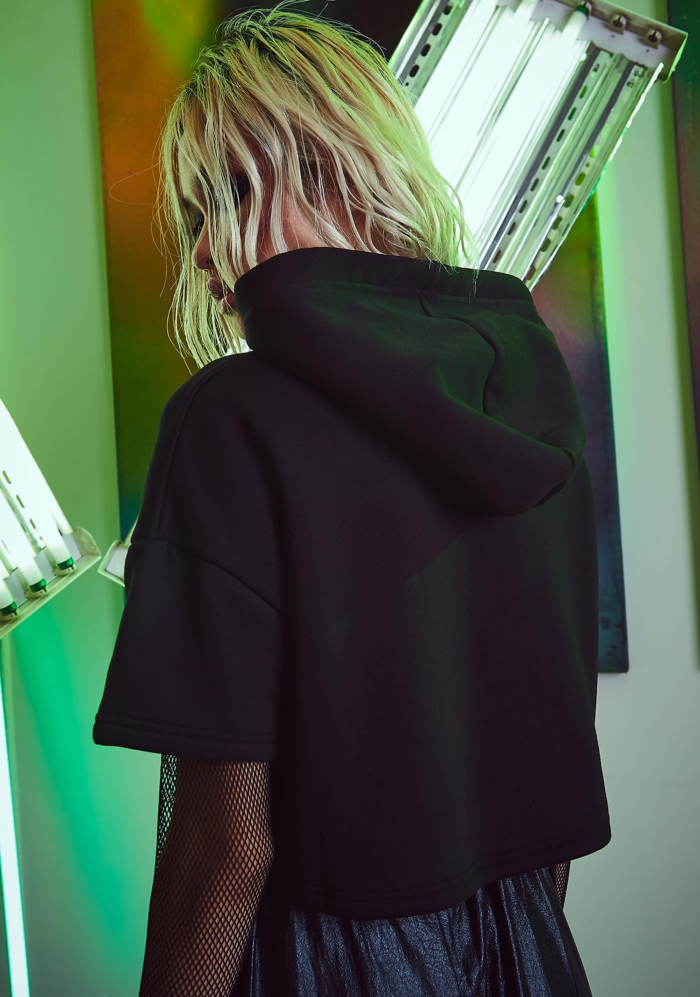 Current Mood Tunnel Vision Cropped Hoodie