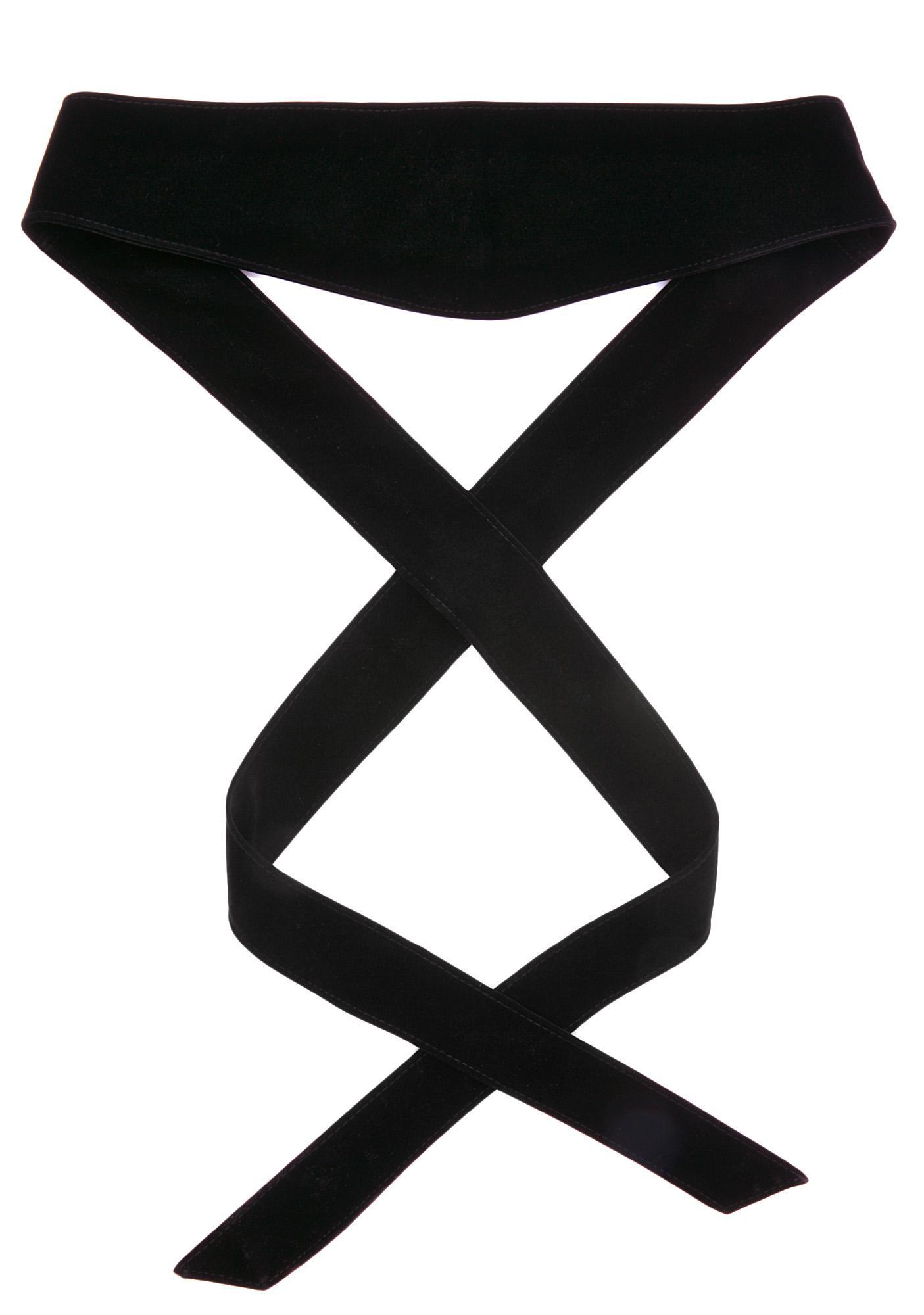 Dark Secret Velvet Wrap Belt