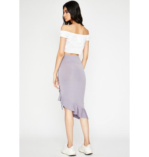 Love You Down Ruched Midi Skirt