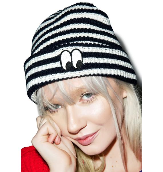 Lazy Oaf Stripey Eye Beanie
