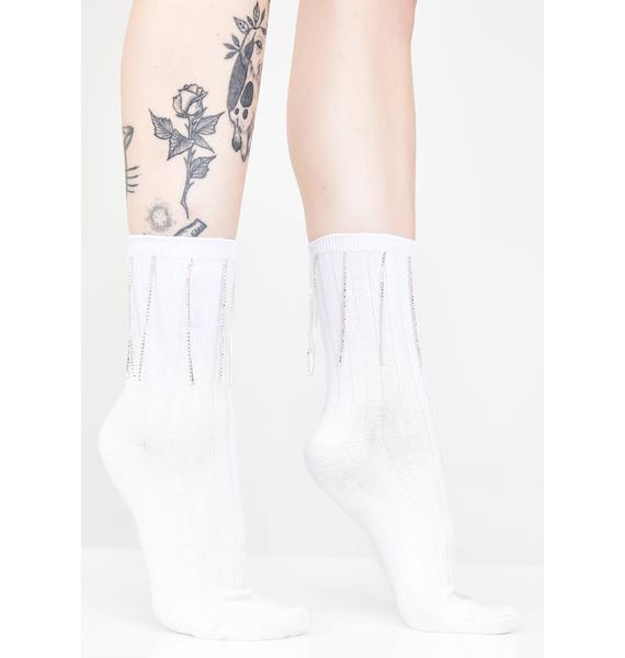 Bling Bae Rhinestone Socks