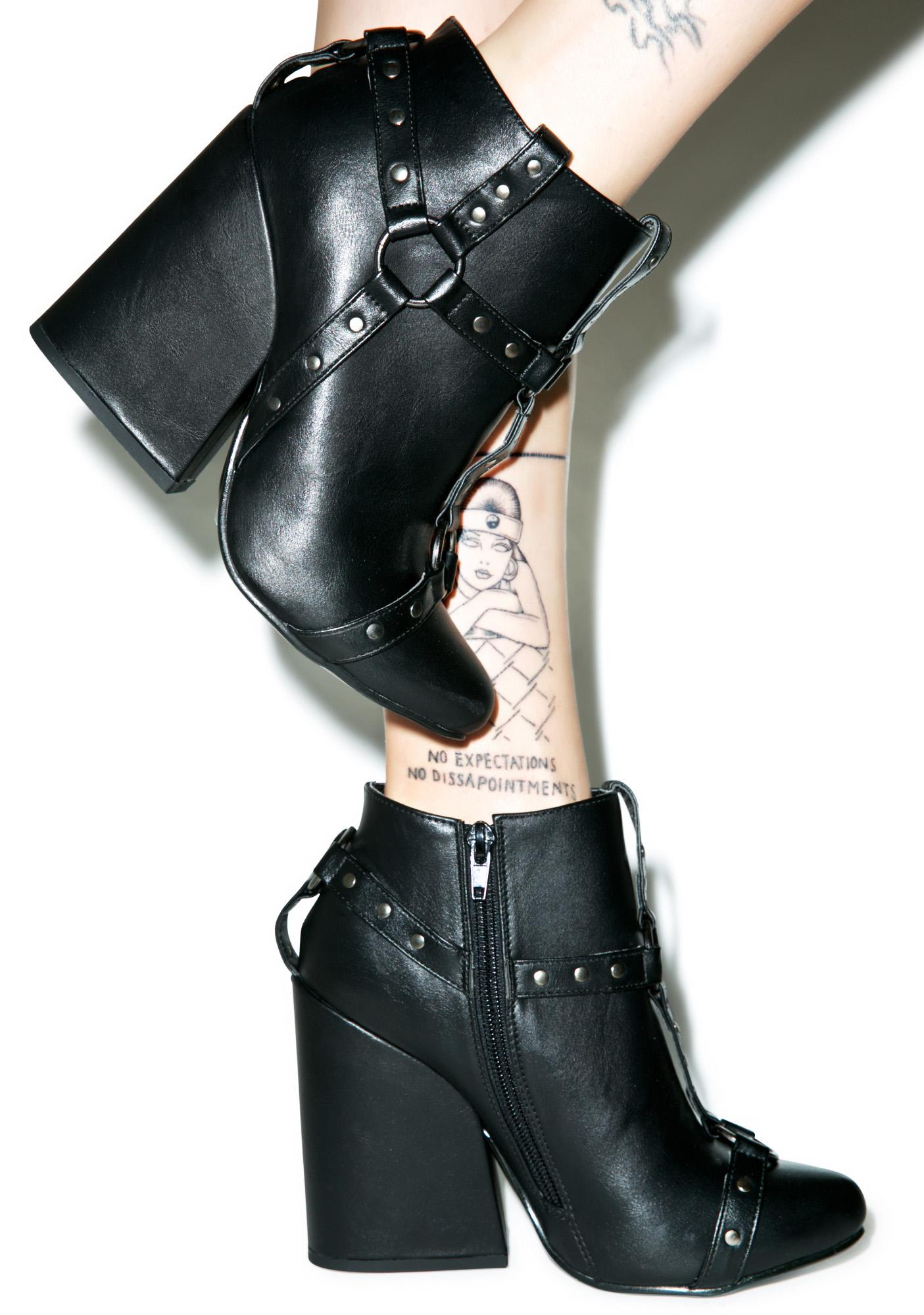 Y.R.U. Craft Harness Ankle Boots