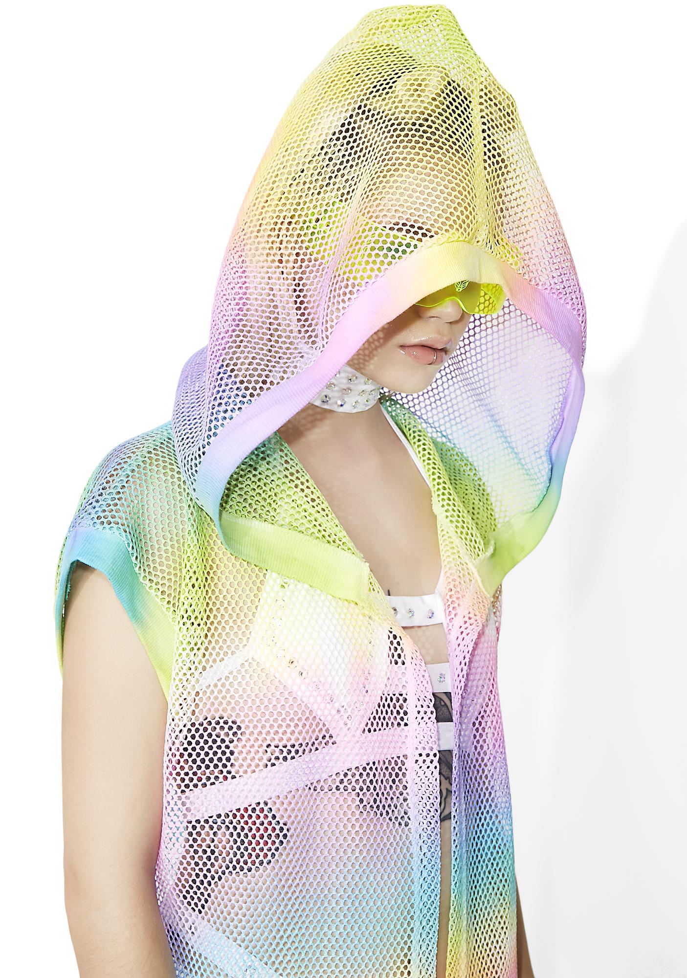 Happy Unbirthday Sheer Tie-Dye Duster