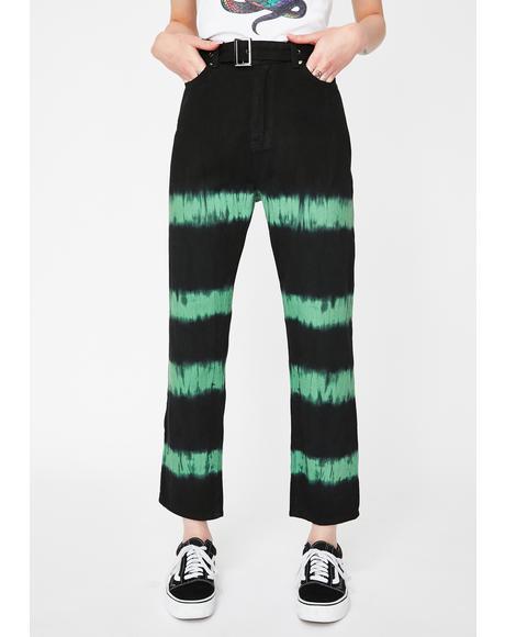Tie Dye Straight Leg Jeans